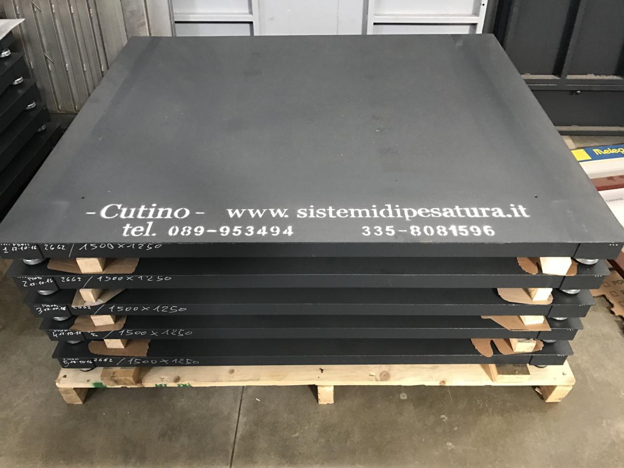 GC-PEC Piattaforma di pesatura a quattro celle di carico